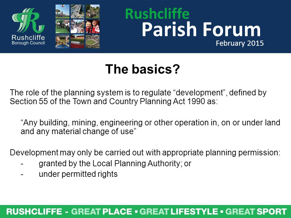 Rushcliffe Parish Forum February 2015 Where are the Shale Gas reserves in Rushcliffe?