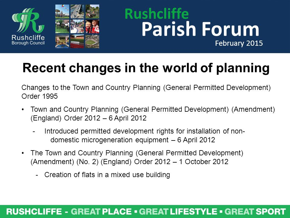 Rushcliffe Parish Forum February 2015 Also a map search function available