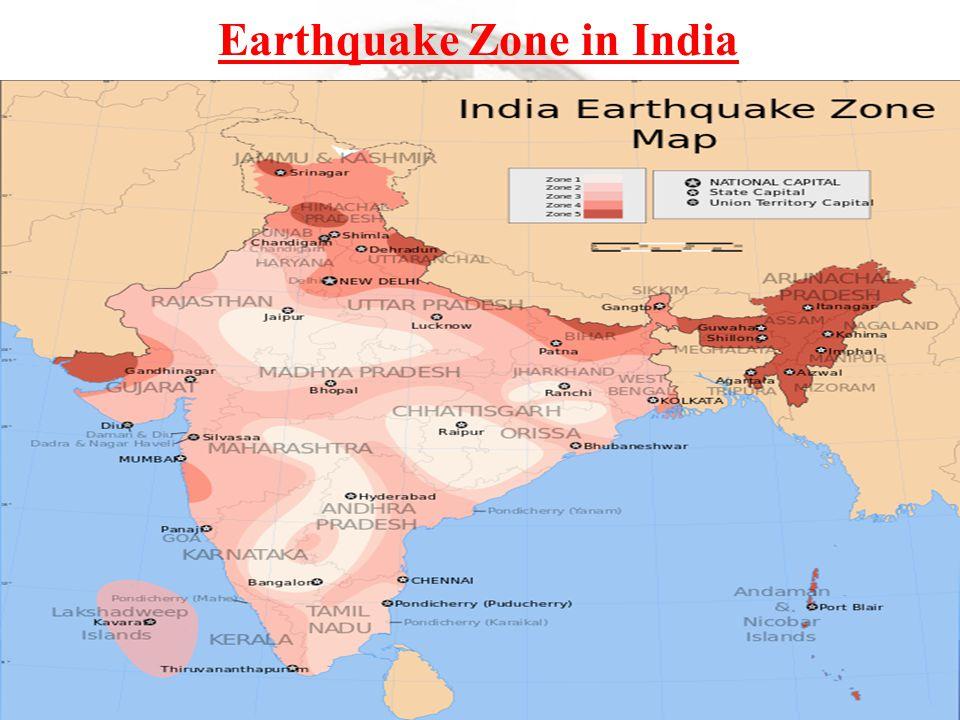 Earthquake Zone in India
