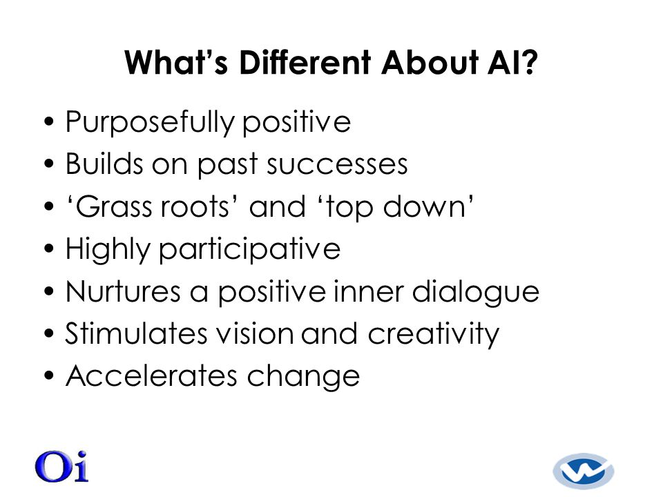 What's Different About AI.