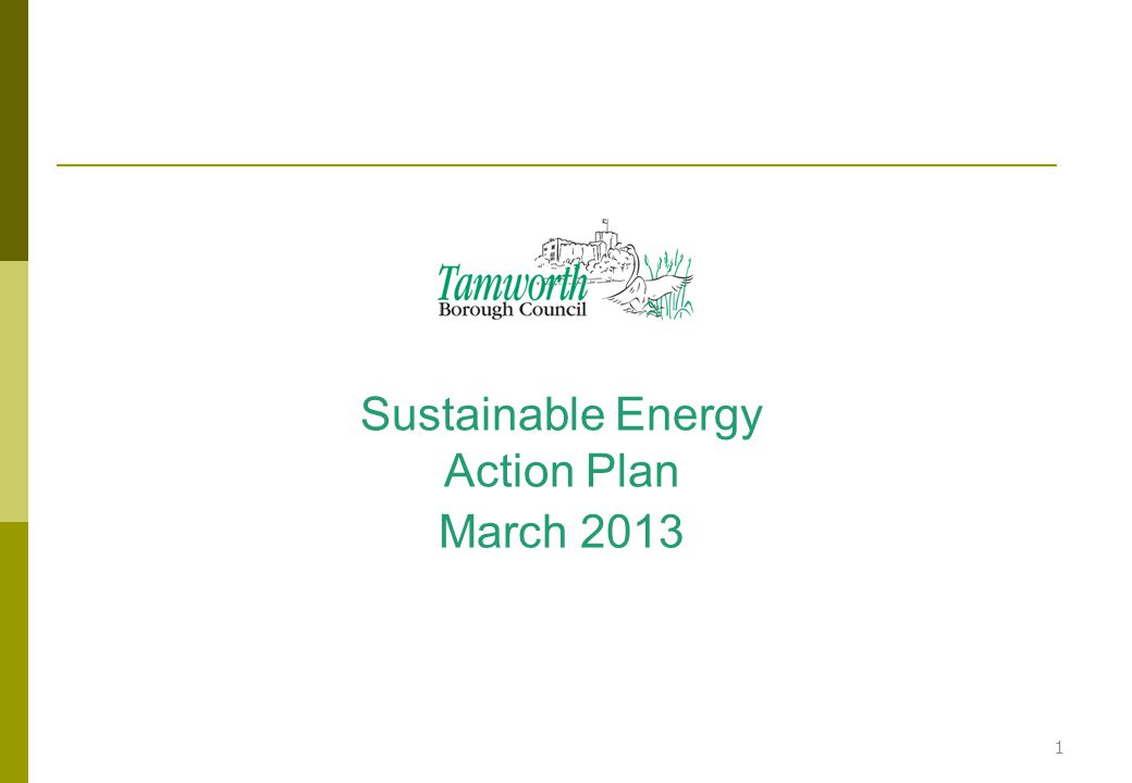 Sustainable Energy Action Plan March 2013 1