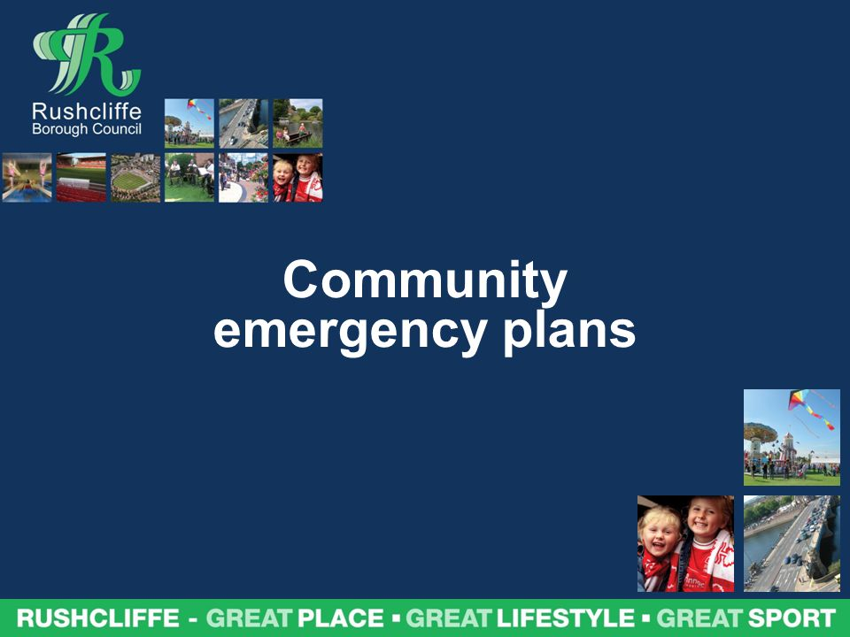 Community emergency plans