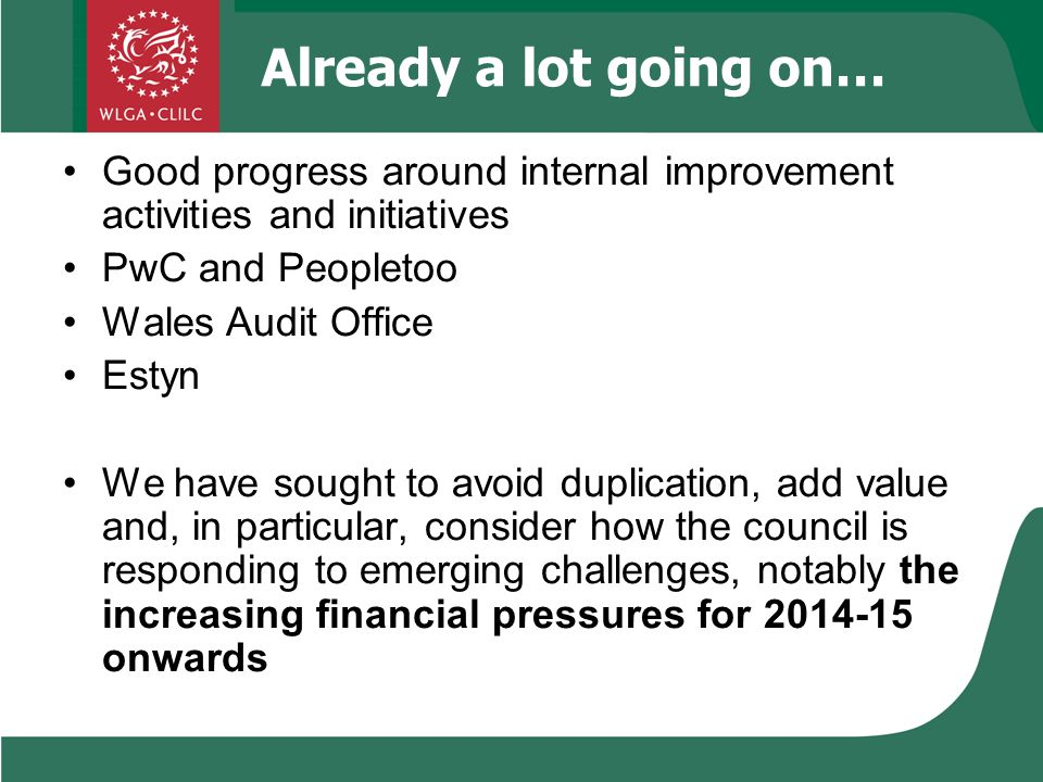 2.Leadership & Governance Actions Take urgent action now regarding financial decision-making e.g.