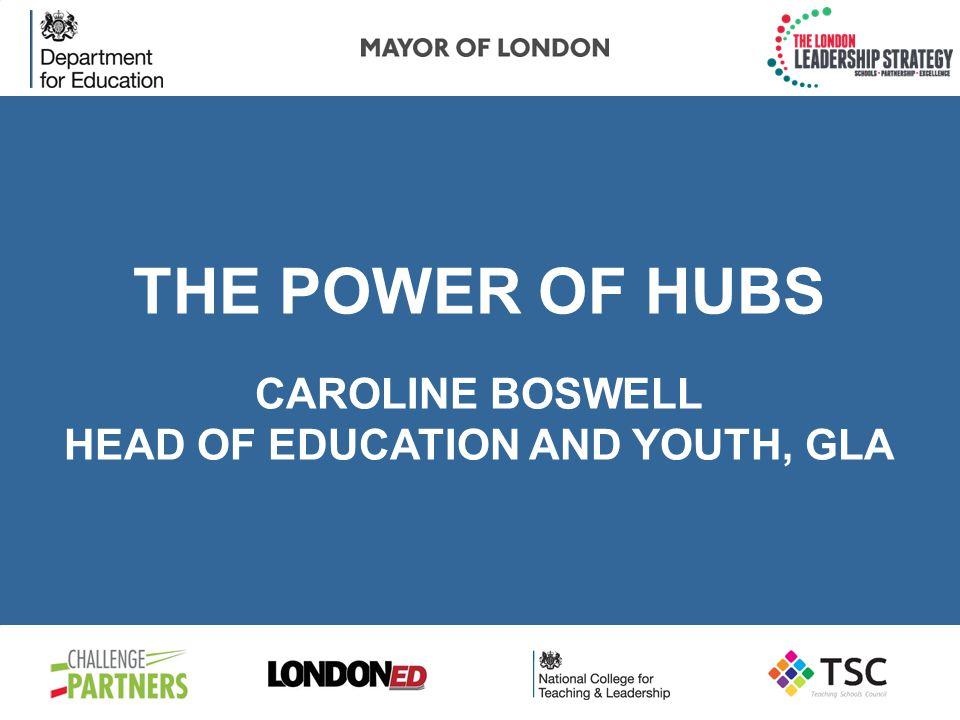 THE POWER OF HUBS PROFESSOR DAVID WOODS CBE CHAIR, LONDON LEADERSHIP STRATEGY