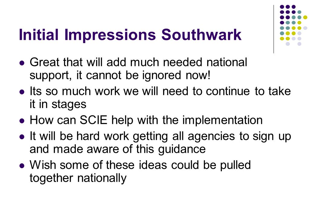 Initial Impressions Southwark Great that will add much needed national support, it cannot be ignored now.