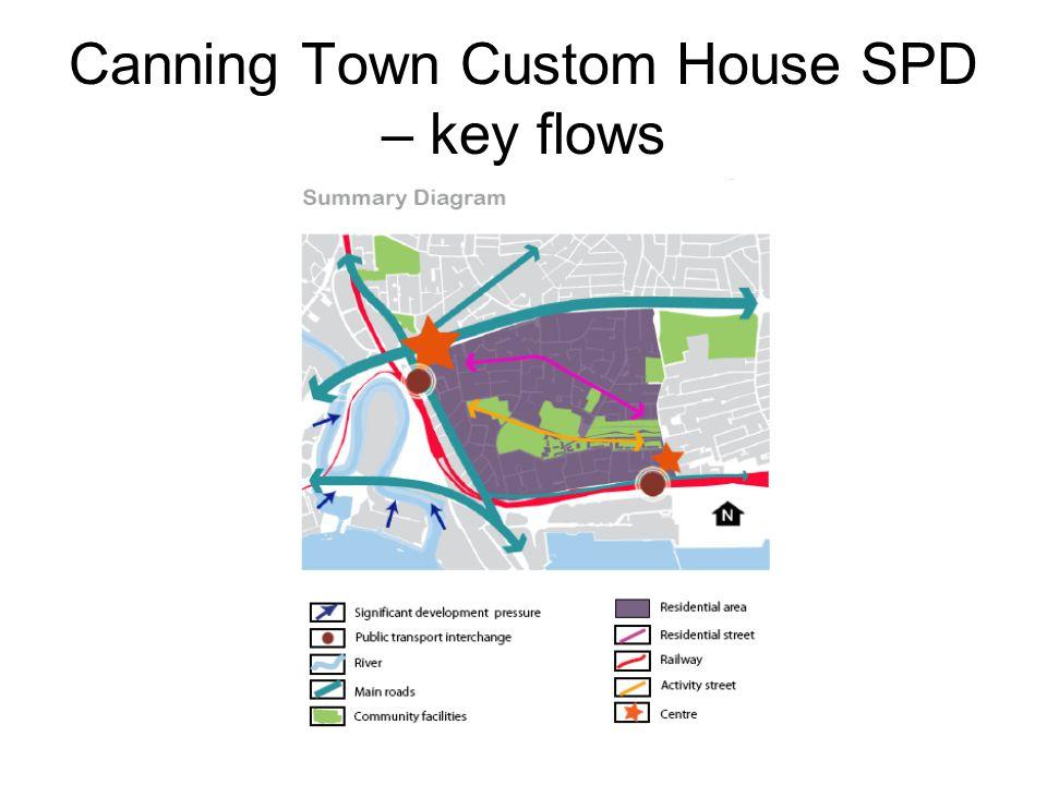 Canning Town Custom House SPD – key flows