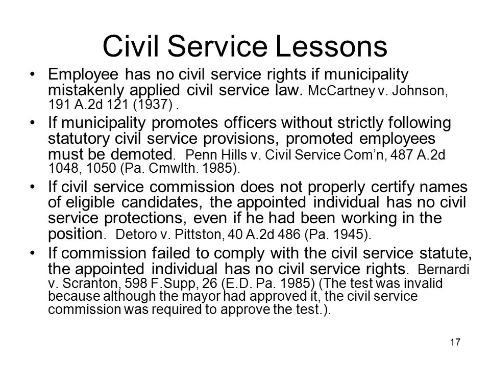 18 Civil Service Discussion The rules are the rules.