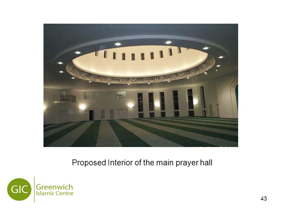 43 Proposed Interior of the main prayer hall