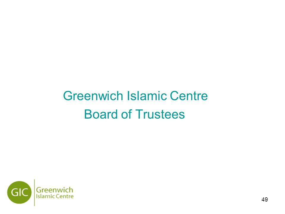 49 Greenwich Islamic Centre Board of Trustees