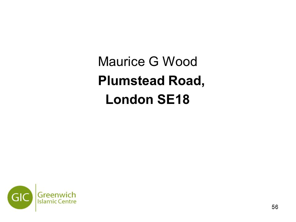 56 Maurice G Wood Plumstead Road, London SE18