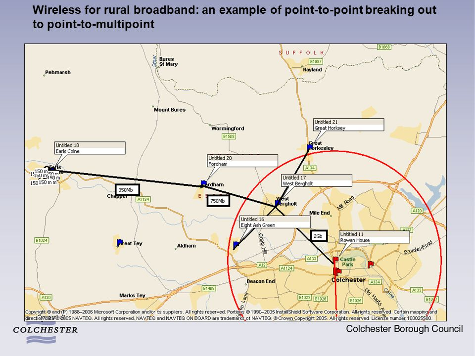 Wireless for rural broadband: an example of point-to-point breaking out to point-to-multipoint