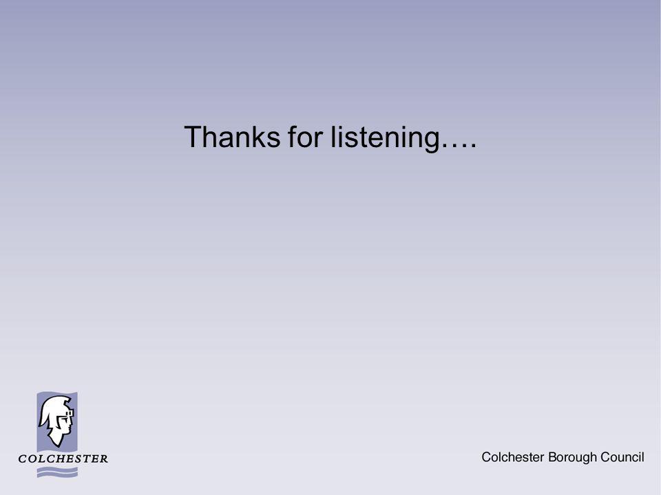 Thanks for listening….