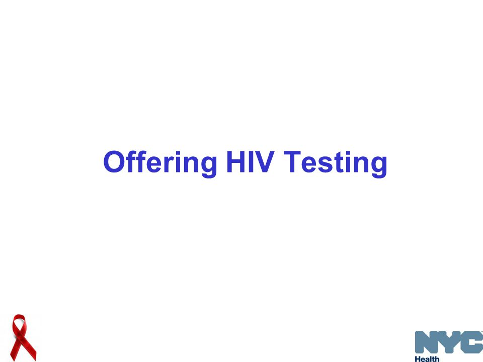 Offering HIV Testing