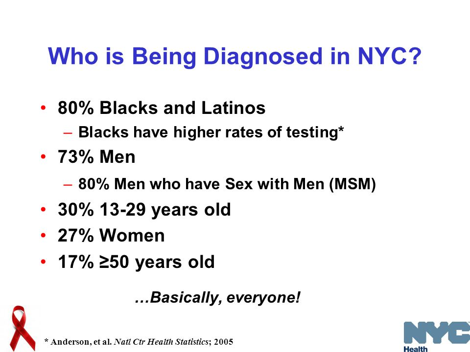 Who is Being Diagnosed in NYC.