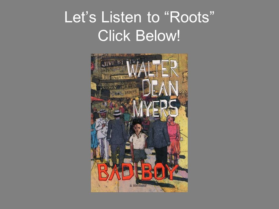 "Let's Listen to ""Roots"" Click Below!"
