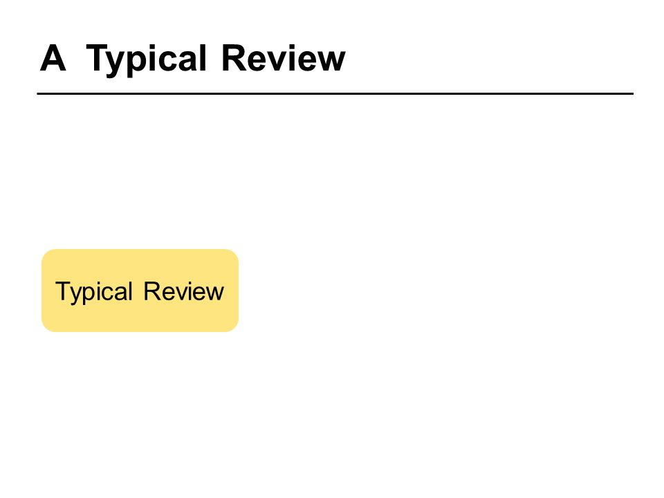 A Typical Review Typical Review