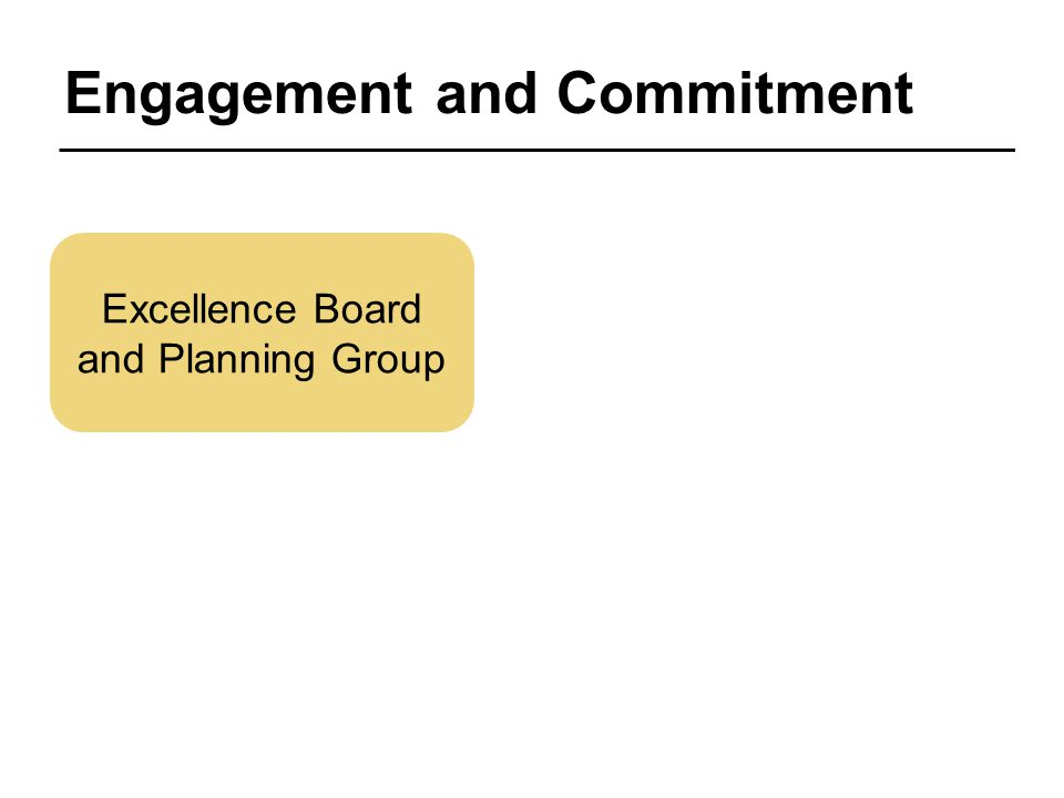 Engagement and Commitment Excellence Board and Planning Group