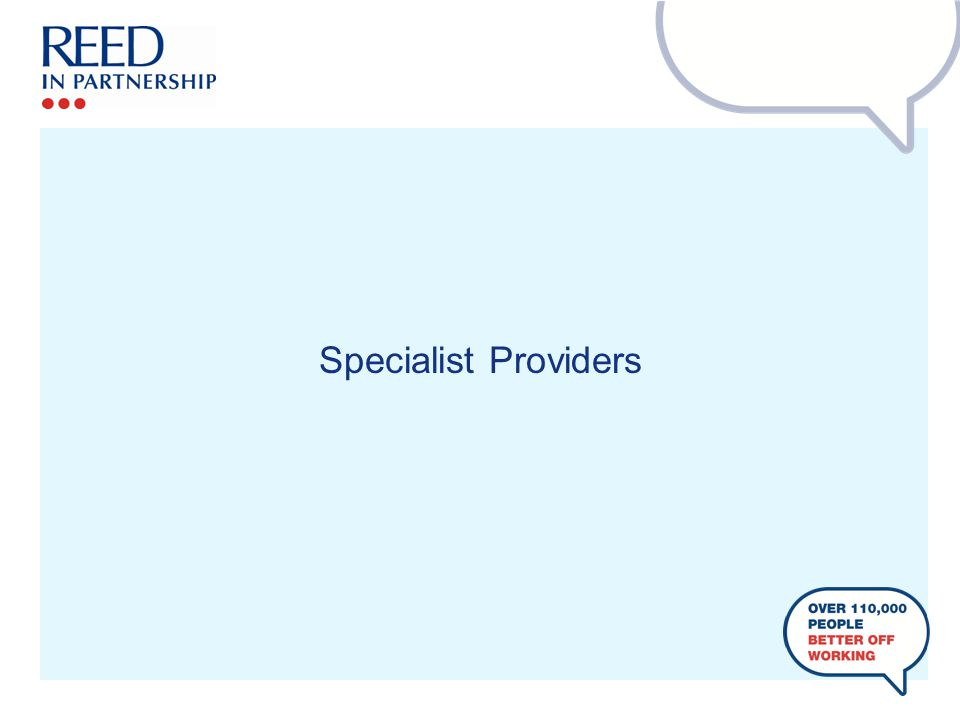 Specialist Providers