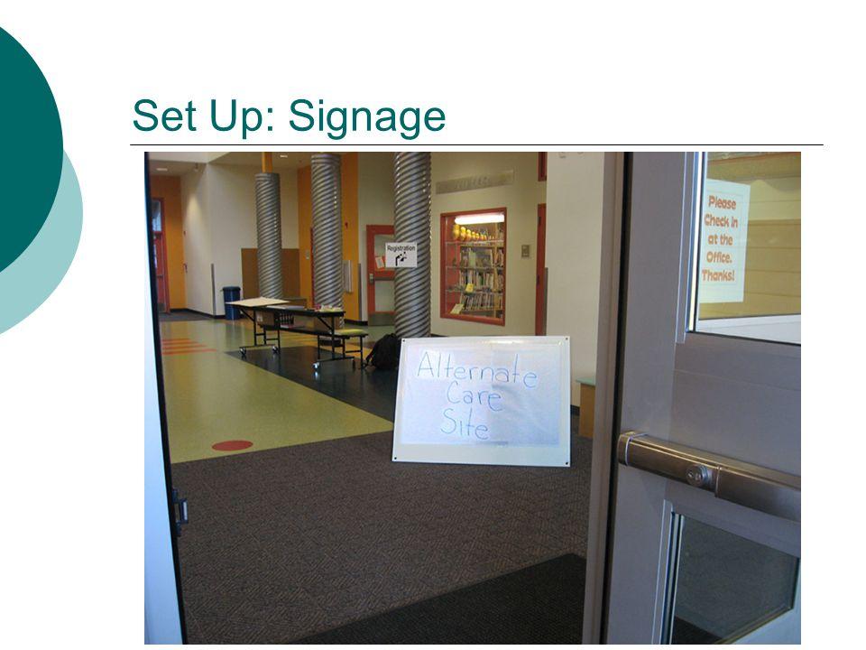 Set Up: Signage