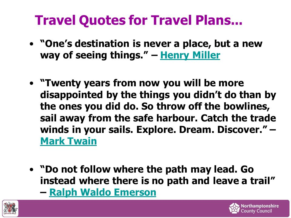 Travel Quotes for Travel Plans...