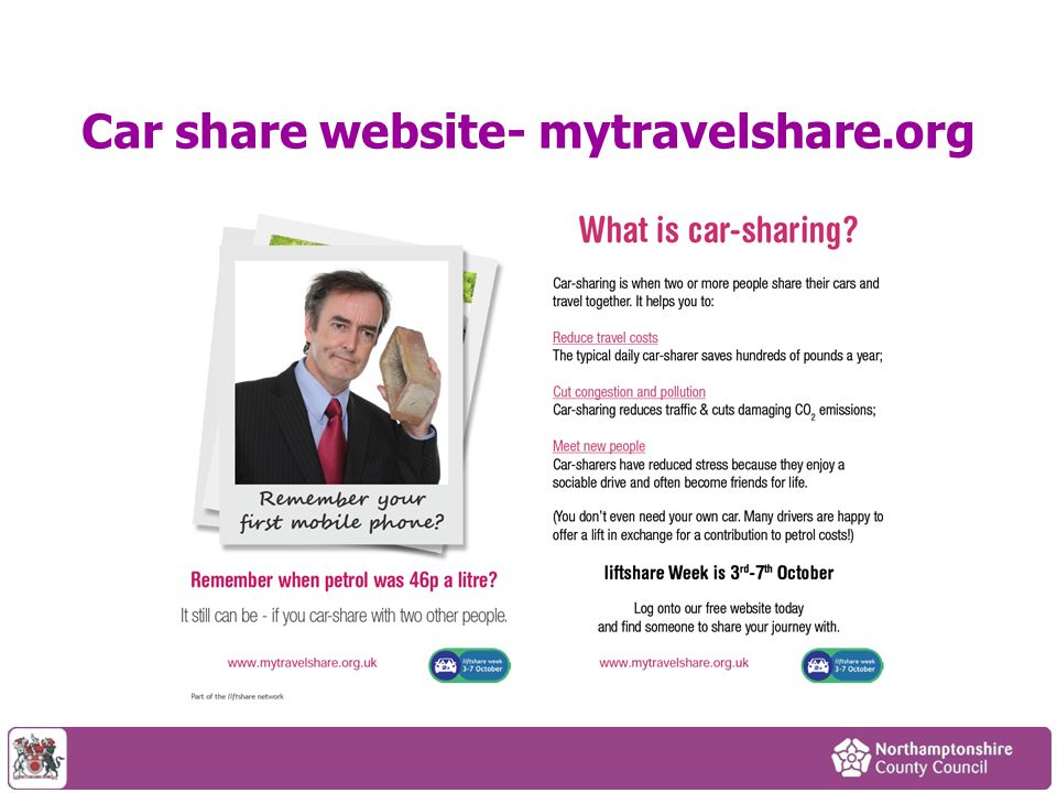 Car share website- mytravelshare.org