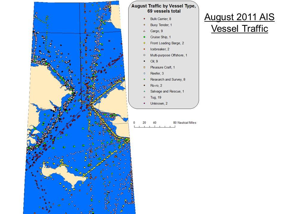 August 2011 AIS Vessel Traffic