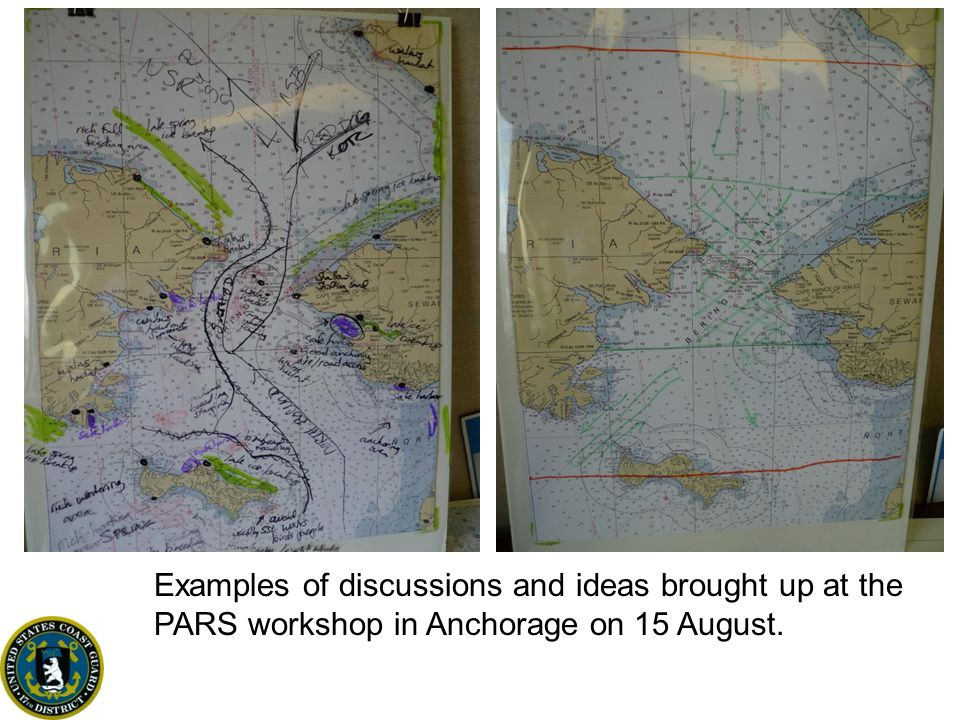 Examples of discussions and ideas brought up at the PARS workshop in Anchorage on 15 August.