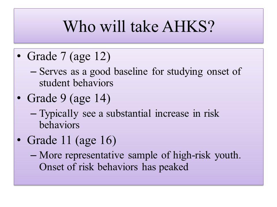 Who will take AHKS.