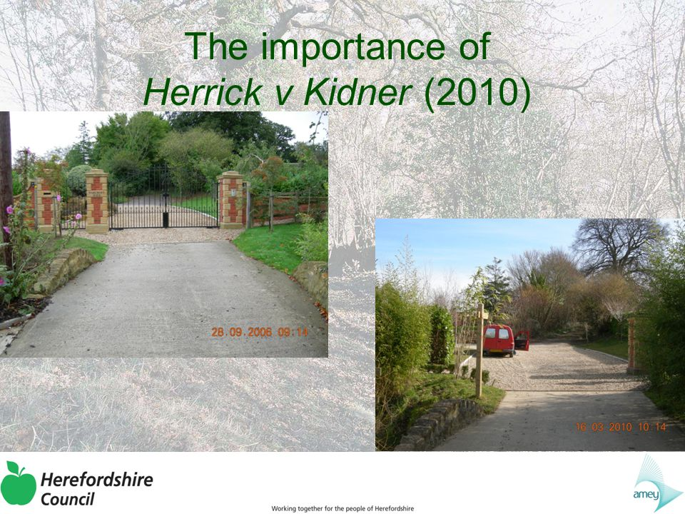 The importance of Herrick v Kidner (2010) The