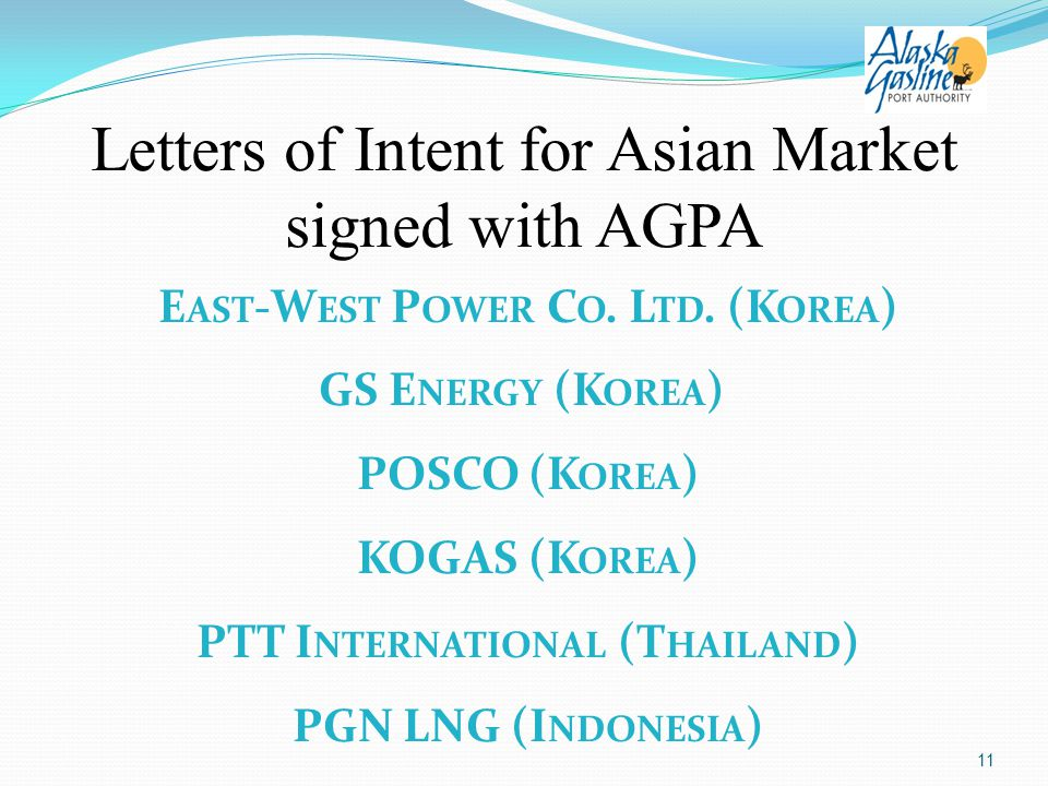 Letters of Intent for Asian Market signed with AGPA E AST -W EST P OWER C O.