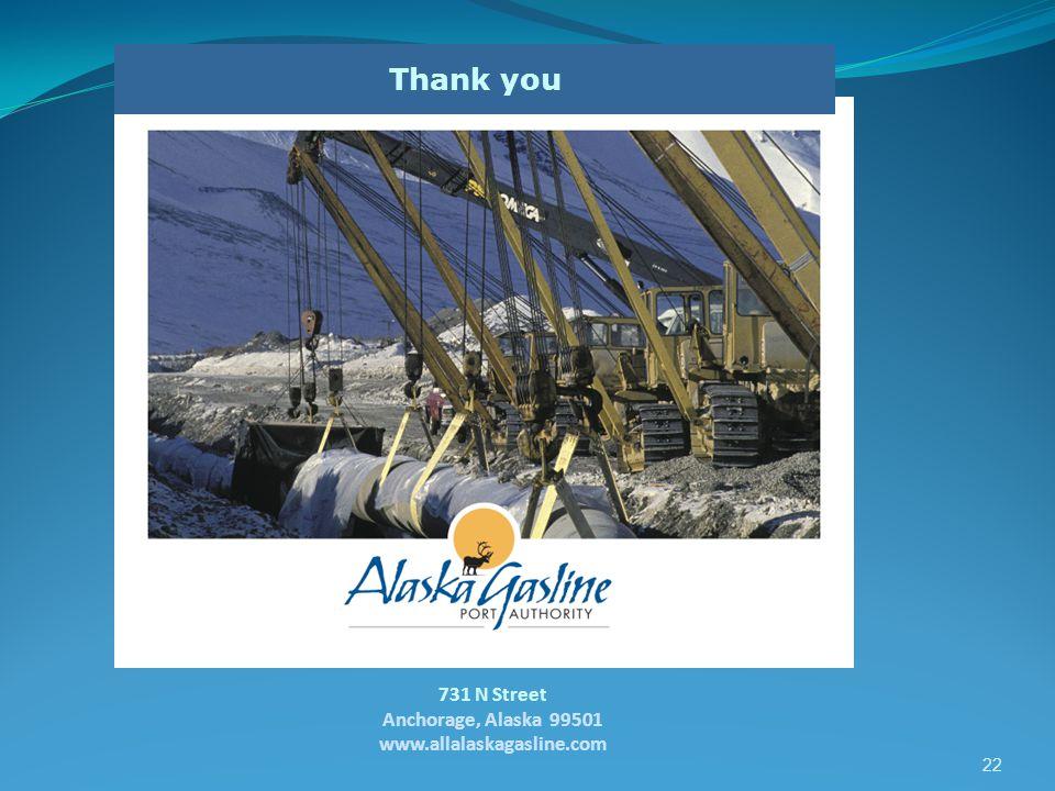 Thank you 731 N Street Anchorage, Alaska 99501 www.allalaskagasline.com 22