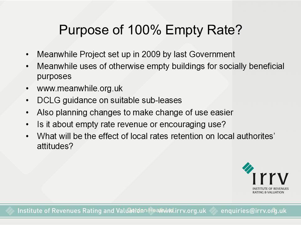 Gordon Heath Ltd3 Purpose of 100% Empty Rate.