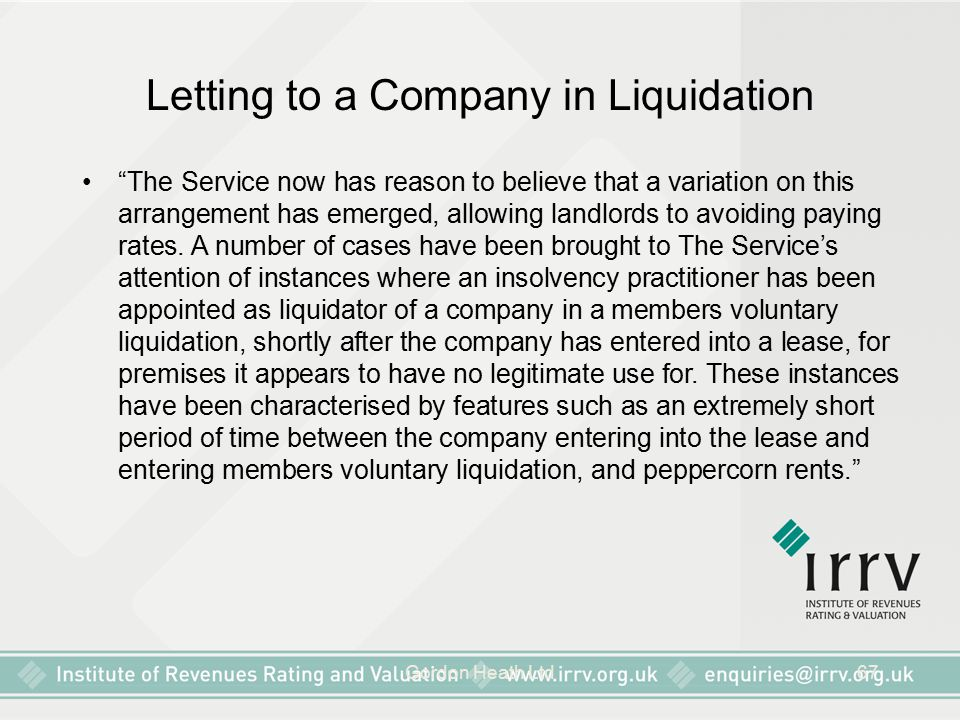 "Gordon Heath Ltd67 Letting to a Company in Liquidation ""The Service now has reason to believe that a variation on this arrangement has emerged, allowi"