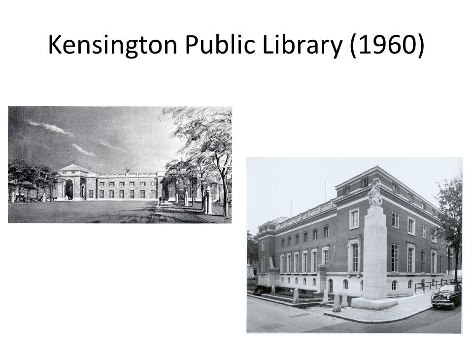 Protest against Kensington Public Library (1959)