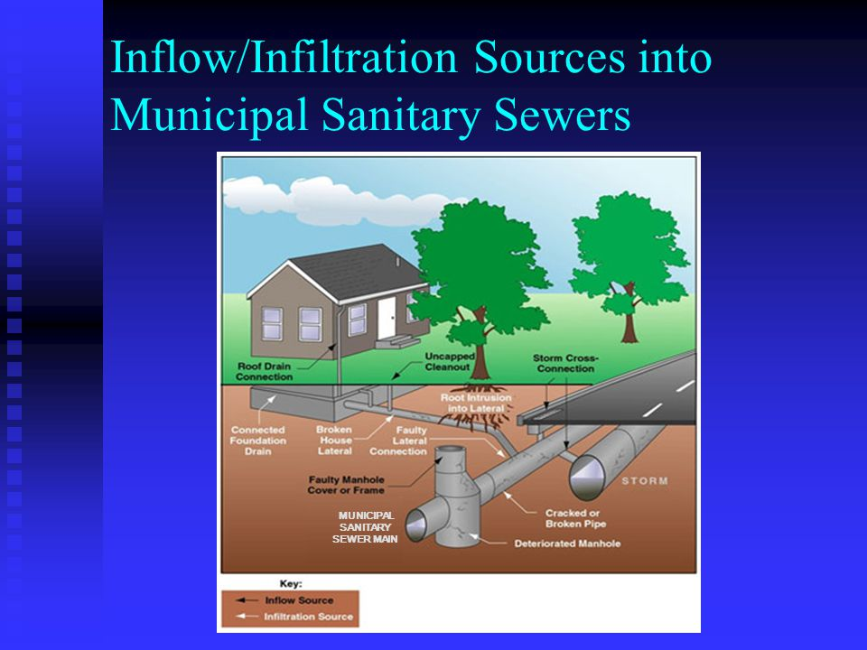 Inflow/Infiltration Sources into Municipal Sanitary Sewers MUNICIPAL SANITARY SEWER MAIN