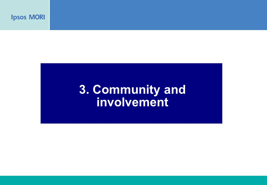 35 3. Community and involvement