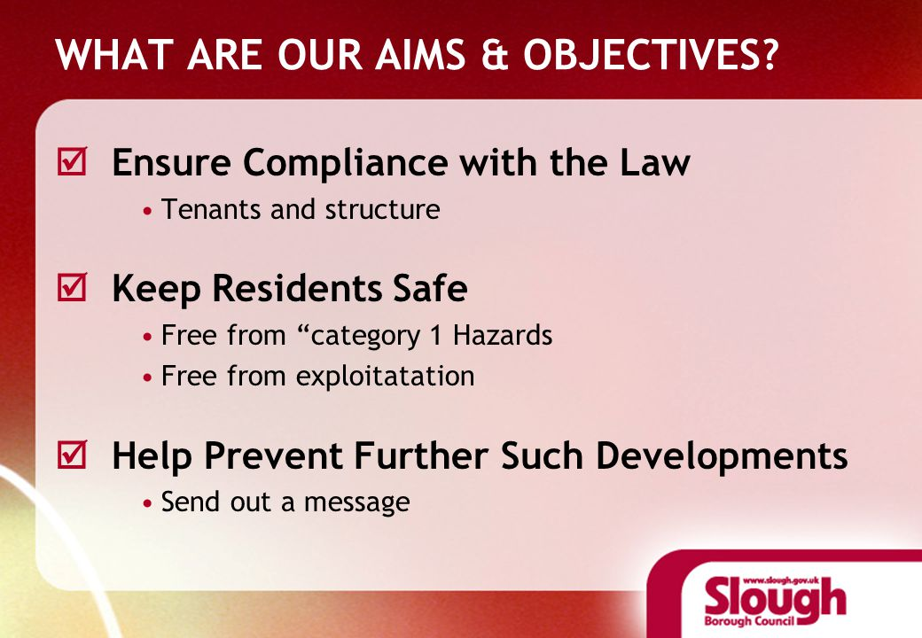 WHAT ARE OUR AIMS & OBJECTIVES.