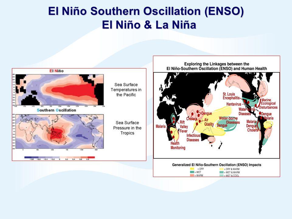 Page 11© Crown copyright 2005 El Niño Southern Oscillation (ENSO) El Niño & La Niña