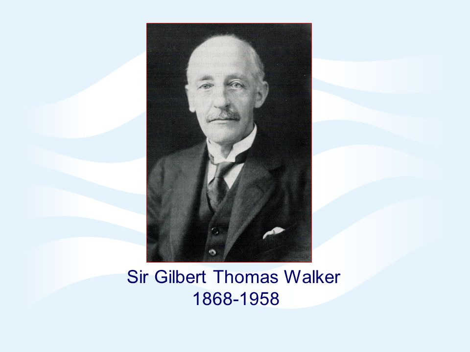 Page 13© Crown copyright 2005 Sir Gilbert Walker RMS Symons Gold Medallist 1934 Honours 1920s: Vice President & President of the Royal Meteorological Society (RMS) 1924: Knighted in the King's Birthday Honours 1934: RMS Symons Gold Medallist 1934: Royal Aeronautical Society Simms Gold Medallist 1935-1939: Member of RMS Council 1934-1941: Editor of the Quarterly Journal of the Royal Meteorological Society 1946: Honorary Fellow of Imperial College 1952: Honorary Member of the RMS