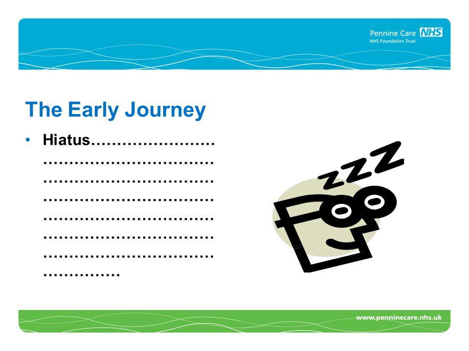 The Early Journey Hiatus…………………… …………………………… …………………………… …………………………… …………………………… …………………………… …………………………… ……………