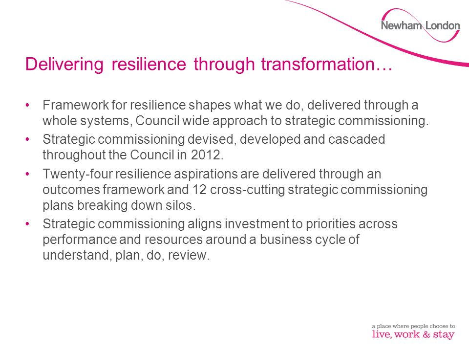 Strategic commissioning What are the challenges others have faced when moving to strategic commissioning.