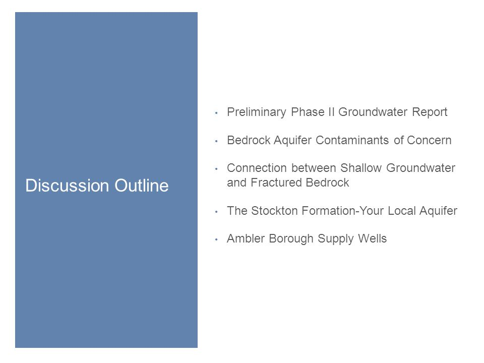 Preliminary Phase II Groundwater Report 3