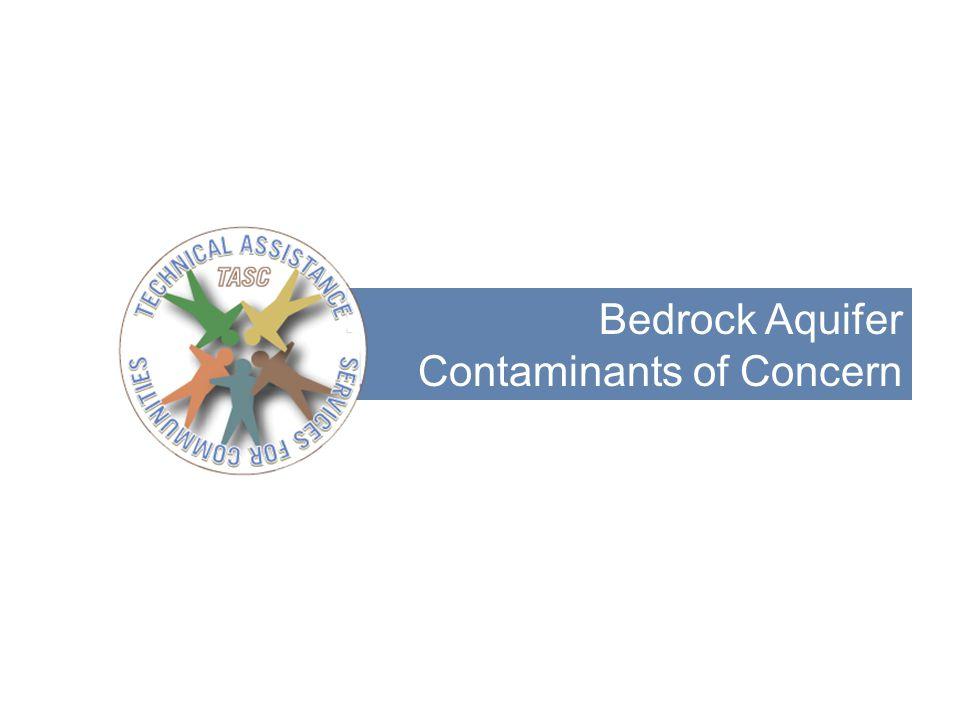 Bedrock Aquifer Contaminants of Concern 8