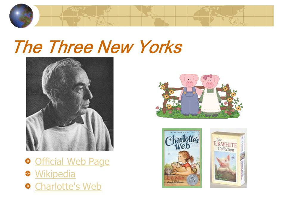 The Three New Yorks Official Web Page Wikipedia Charlotte s Web