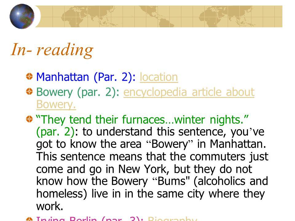Pre-reading As you prepare to read White ' s essay, take a few minutes to think about the place where you live or, if you have lived in several locations, the place that you know best.