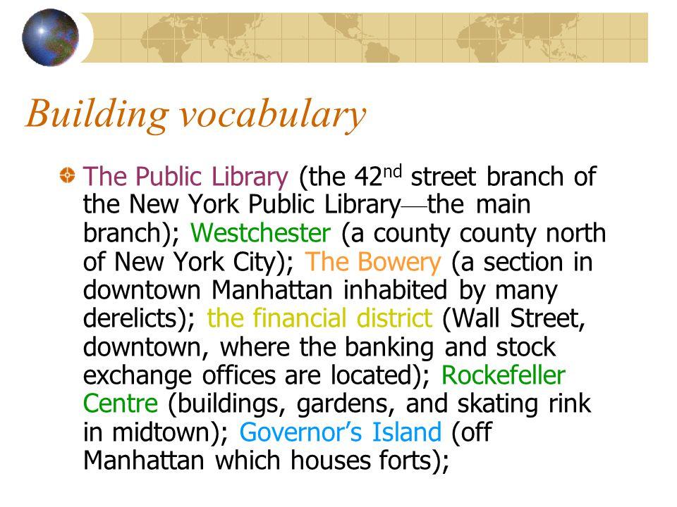 Building vocabulary 1. Par.