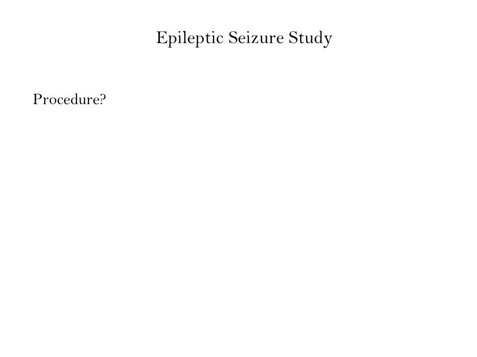 Epileptic Seizure Study Procedure