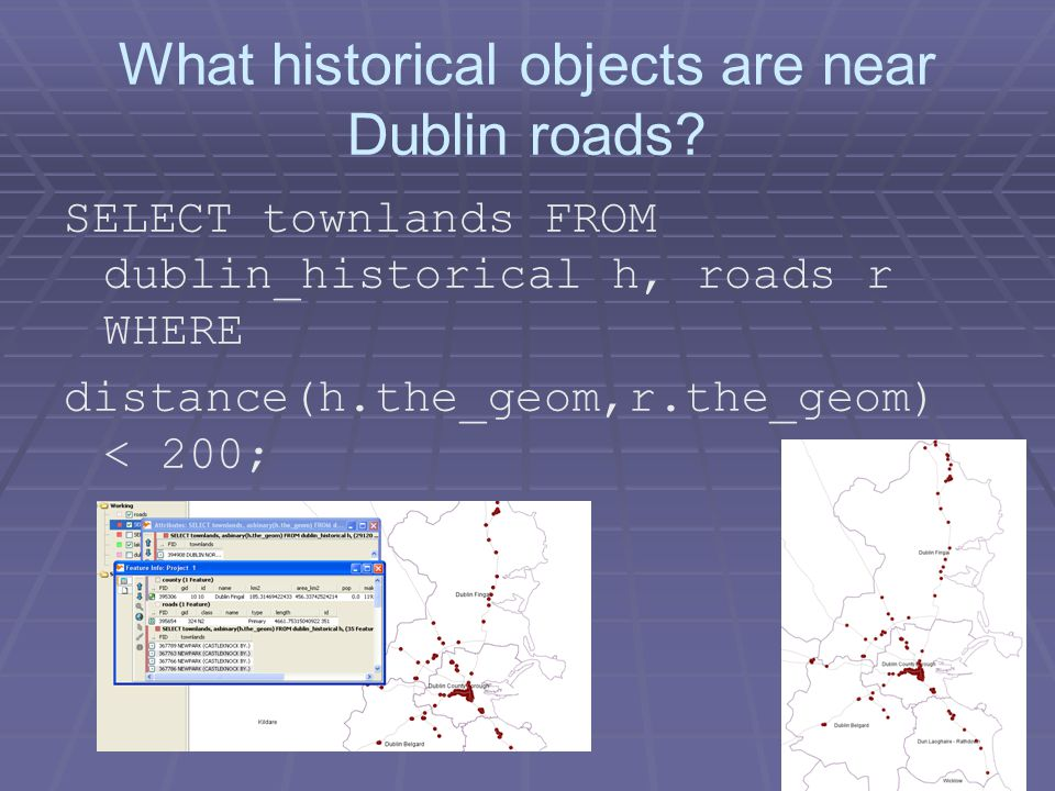 What historical objects are near Dublin roads.