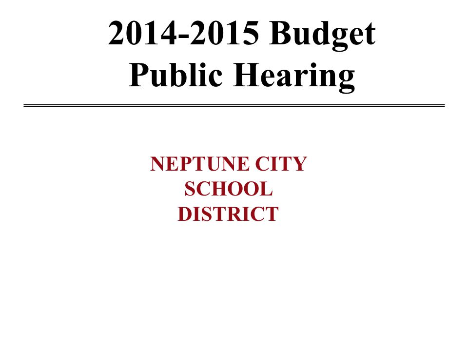 2014 – 2015 Budget Facts The School Budget supports not only the elementary school, but tuition for high school students and out-of-district special education placements.