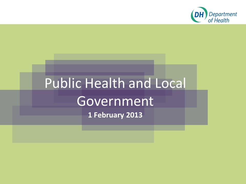 Click to edit Master title style Click to edit Master subtitle style Public Health and Local Government 1 February 2013